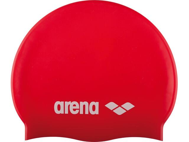arena Classic Silicone Swimming Cap Juniors red-white